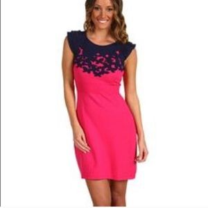 Lilly Pulitzer pink & navy dress-see measurements!